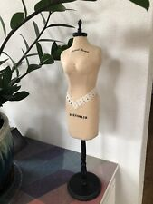 Tabletop Mini Dress Form/ Mannequin 17.5 inch total height - preowned-