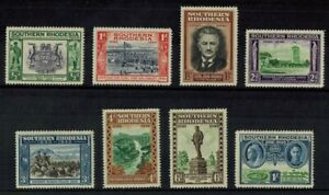 SOUTHERN RHODESIA 1940 KGVI GOLDEN JUBILEE SET OF 8 STAMPS MINT CONDITION