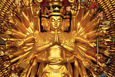 Framed Print - Solid Gold Buddha Statue (Picture Poster Buddhism Buddhist Art)
