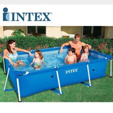INTEX4 Size Rectangle Inflatable Frame Swimming Pool Set Pipe Piscina For Family