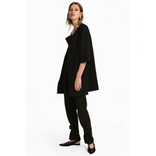 NWT H&M Black Short Coat Open Front Knit Jacket 3/4 Sleeve Unlined 10 SOLD OUT!