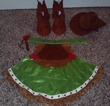 BUILD A BEAR APPLEJACK MY LITTLE PONY BOOTS CAPE & HAT RETIRED