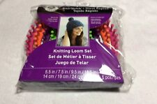 Loops & Threads Knit Quick Knitting Loom Set New 4 Looms