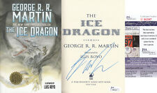 """George R.R. Martin author Game of Thrones JSA SIGNED """"Ice Dragon"""" BOOK AUTOGRAPH"""
