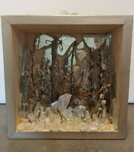 """Fine Art Shadow Box """"ICE Forest"""" Artist Suzanne Radcliffe Signed 2014"""