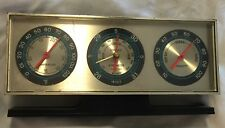 Vintage Springfield Instrument Desk Thermometer Barometer Humidity USA Weather