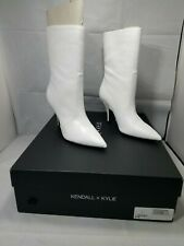 Kendall & Kylie White Leather Ankle Boots Size 6 M CALIE 3