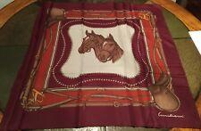 Equestrian Horse Heads and Saddle Scarf Emilioui