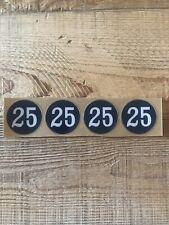 Helmet Number Decal Baseball, Football Hockey, Lacrosse, Bat Knob #25 Expos