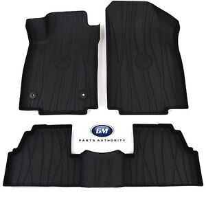 2017-2022 Buick Encore Premium All Weather Front & Rear Floor Liner Pkg Ebony OE