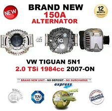 FOR VW TIGUAN 5N1 2.0 TSi 1984cc 2007-ON BRAND NEW 150A ALTERNATOR with PULLEY