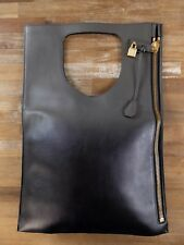 2832b7d7a9d0 TOM FORD gradient ash grey large fold Alix clutch tote bag - NWT