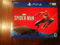 NEW Sony PS4 PlayStation 4 Slim 1TB Marvel's Spider-Man Console Bundle Jet Black