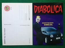 Cartolina Card DIABOLICA Renault Twingo , Promocard n.3266 Diabolik/Eva Kant