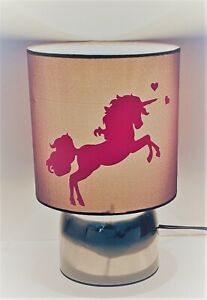 Magical Pink Unicorn grey touch lamp-3 settings bedside/night light