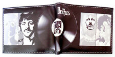 The Beatles Lennon McCartney Wallet 3 Credit Card Slots 2 Bill sections Black