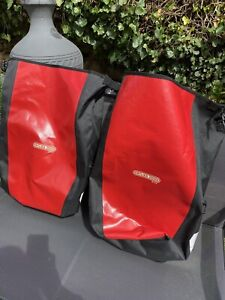 ORTLIEB BACK-ROLLER CITY BICYCLE PANNIERS, 40L, RED