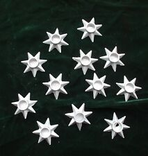 Vintage Christmas Candle Holders Star Shaped Metal Denmark Weighted Small 12 Box