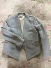 Stunning BNWT £295 SANDRO PARIS Light Blue Blazer Jacket-size 12
