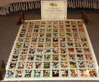 1991 CLASSIC LIMITED ED FOOTBALL CARD UNCUT SHEET 2 SETS W BRETT FAVRE ROOKIES