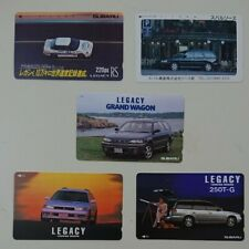 Rare !! Subaru Legacy telephone card 5-piece set not for sale [New] JP F/S