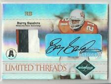 2004 LEAF LIMITED THREADS BARRY SANDERS AUTO 3 COLOR PATCH 10/25!!