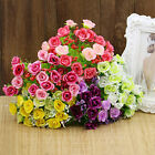 1 Bouquet 21 Head Gorgeous Artifical Rose Wedding Party Home Decor Silk Flower H