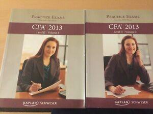 CFA level 2 2013 Practise Exam Books 1 & 2 (very good condition)