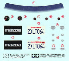 TAMIYA Decal 24116 1/24 Mazda RX-7 R1