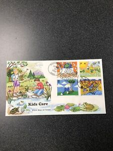 US FDC 2951-54 Kids Care Earth Day Set Of 4 On Same Collins Hand Painted Covers