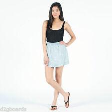 """VOLCOM NWT """"WEIRDETTE SKIRT""""  Women's Size S Printed Mini skirt Chambray  AP505"""
