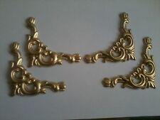 RESINA DECORATIVA stampaggio-Set di 4 Angoli Decorativi-GOLD Painted Finish