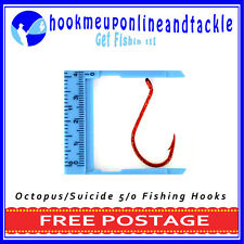 50 x Size 5/0 Red Octopus/Suicide Hooks Saltwater Freshwater Fishing TackleBulk