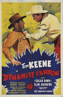 Dynamite Canyon (1941) Tom Keene Western Cult movie poster print