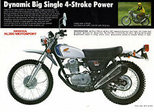 1973 HONDA XL350 MOTOSPORT TRAIL BIKE 1 page Motorcycle Sales Brochure NOS