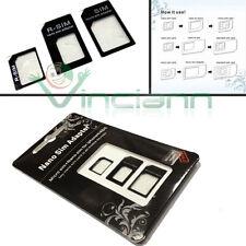 KIT 3in1 Scheda Adattatore Nano Micro SIM per Nokia Lumia 1520 convertitore card