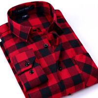 Mens Shirts Plaid Casual Long Sleeve Comfort Flannel Checks Work Smart Shirts