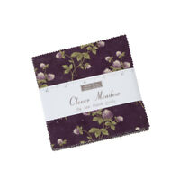 "CHARM PACK~Clover Meadow~MODA FABRIC~42-5"" SQUARES~Jan Patek~2230PP-purple green"