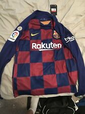 Messi FC Barcelona Jersey Long Sleeve  - Size Adult Large