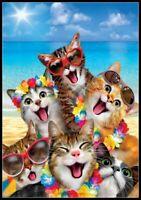 Beach Kittens - Chart Counted Cross Stitch Pattern Needlework Xstitch Craft DIY