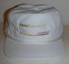 Vintage Basic Computer Logo Compaq Company Embroidered Baseball Hat Cap