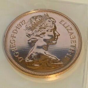 1972 Elizabeth II - 2p Two Pence Proof Coin