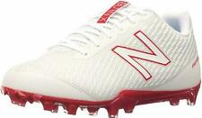 New Balance Men's Burnx Low Lacrosse Shoes Cleats Burnxlrd White Red Size 12.5