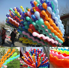 100 Party Decor Airballontwist Spiral Latex Balloons for Birthday Wedding Kids