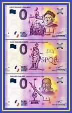 3 Billets Touristique Souvenir 0 euro Colomb Galilée César 2019 2020 Histoire