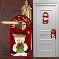 Home Drop Ornaments Santa Claus Snowman Pattern Christmas Door Hanging Decor