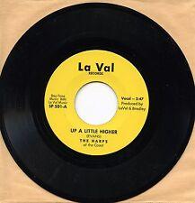 "7"",Soul,Rare,Mint,Spiritual,THE HARPS, UP A LITTLE HIGHER/WHERE THE SOUL, La Val"