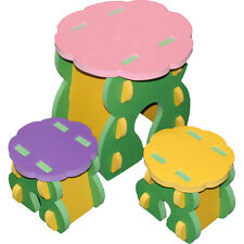 Eva Foam Table & 2 Chair Set For Children Soft Durable & Comfortable Tea Table
