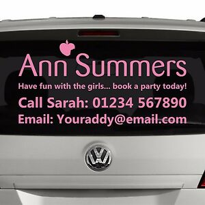 Ann Summers Party Planner Window Advert Sticker Graphic For Car Business [SI5]