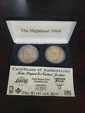 1997 UPPER DECK HIGHLAND MINT MICHAEL JORDAN KOBE BRYANT BRONZE COINS 62/1750